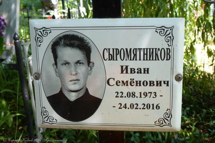 20. Младший брат Кольки — Ванька Сыромятников, умер в 43, прожил дольше брата на 11 лет